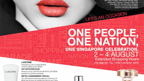 National Day 20 percent OFF storewide at Metro!