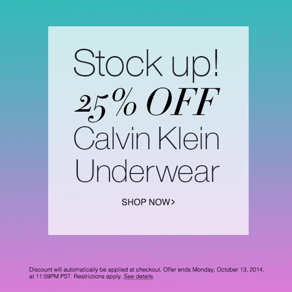 CK Underwear 25% OFF!
