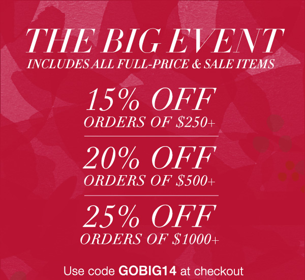 Shopbop's BIGGEST Sale of 2014 - lasts an entire WEEK!