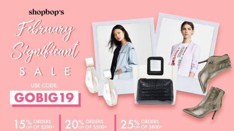 Exclusive: Shopbop's February significant sale!