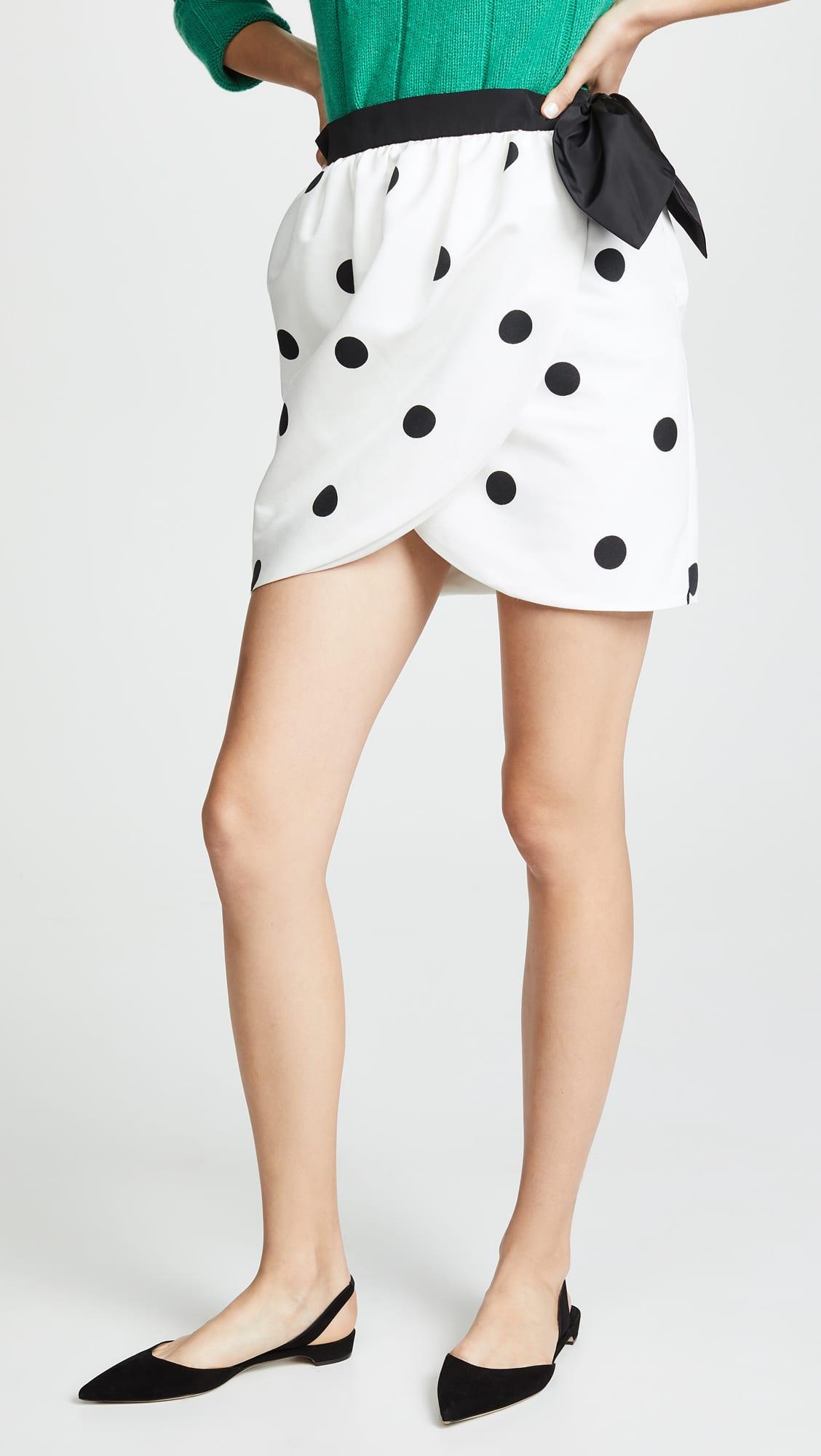 Polka Dot Tulip Wrap Skirt.