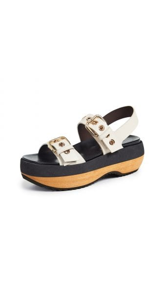 Marni Wedge Buckle Sandals shopbop
