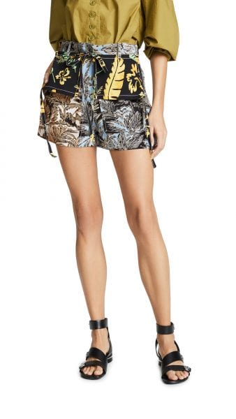 phillip lim patchwork shorts shopbop