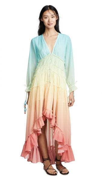 shopbop ROCOCO SAND rainbow dress
