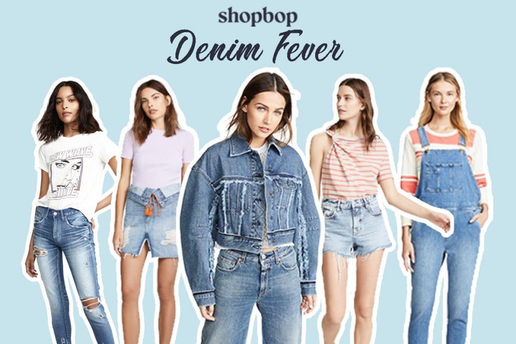 shopbop feature denim fever