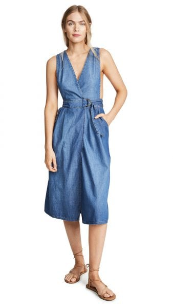 Free People Keeping My Cool Denim Dress shopbop princessadiary