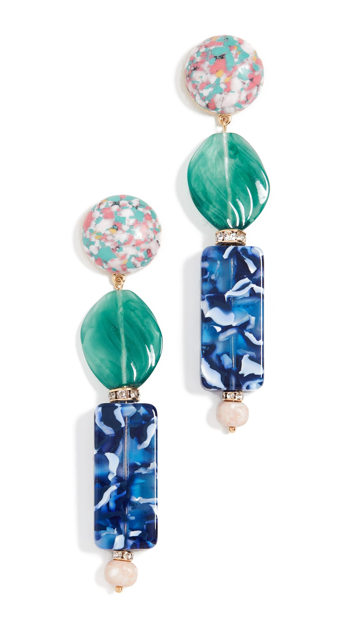 Lele Sadoughi Stacked Stone Earrings shopbop